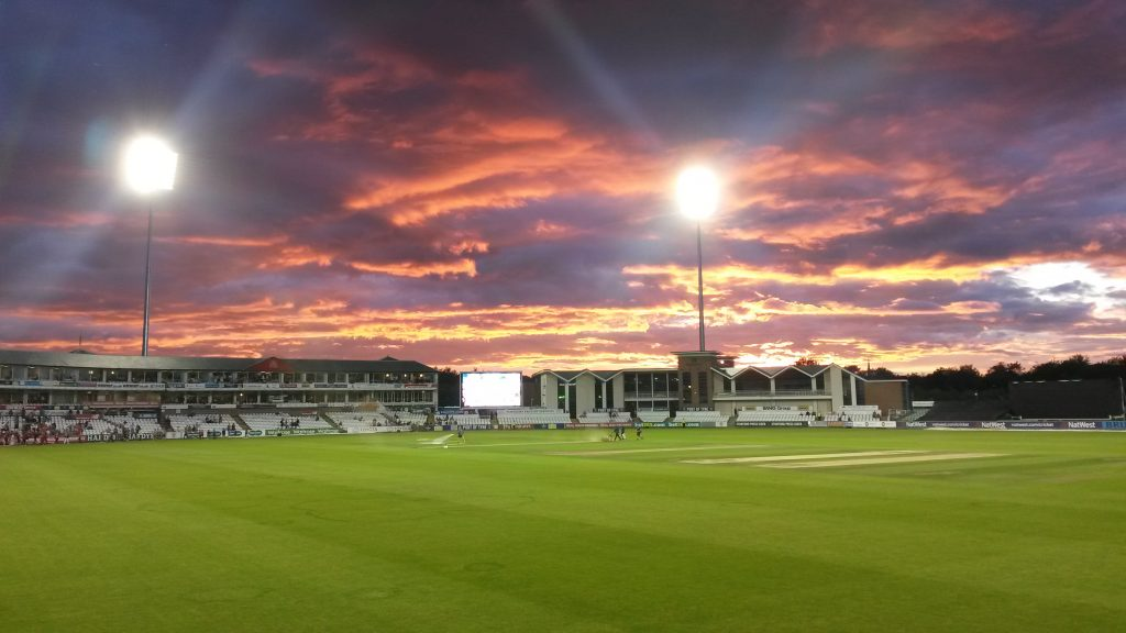 A sunset meeting at Durham County Cricket Club