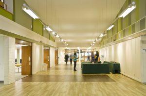 Academic Venue: Keele University reception area