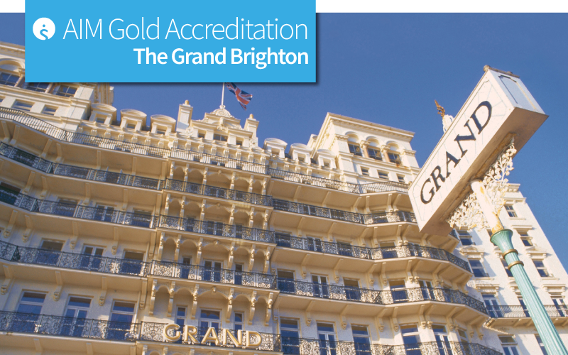 AIM Gold Accreditation at The Grand Brighton