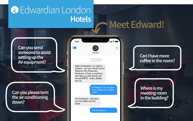 Virtual Host Edward at Edwardian Hotels