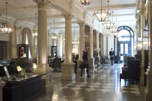 The lobby at Principal Edinburgh George Street Hotel