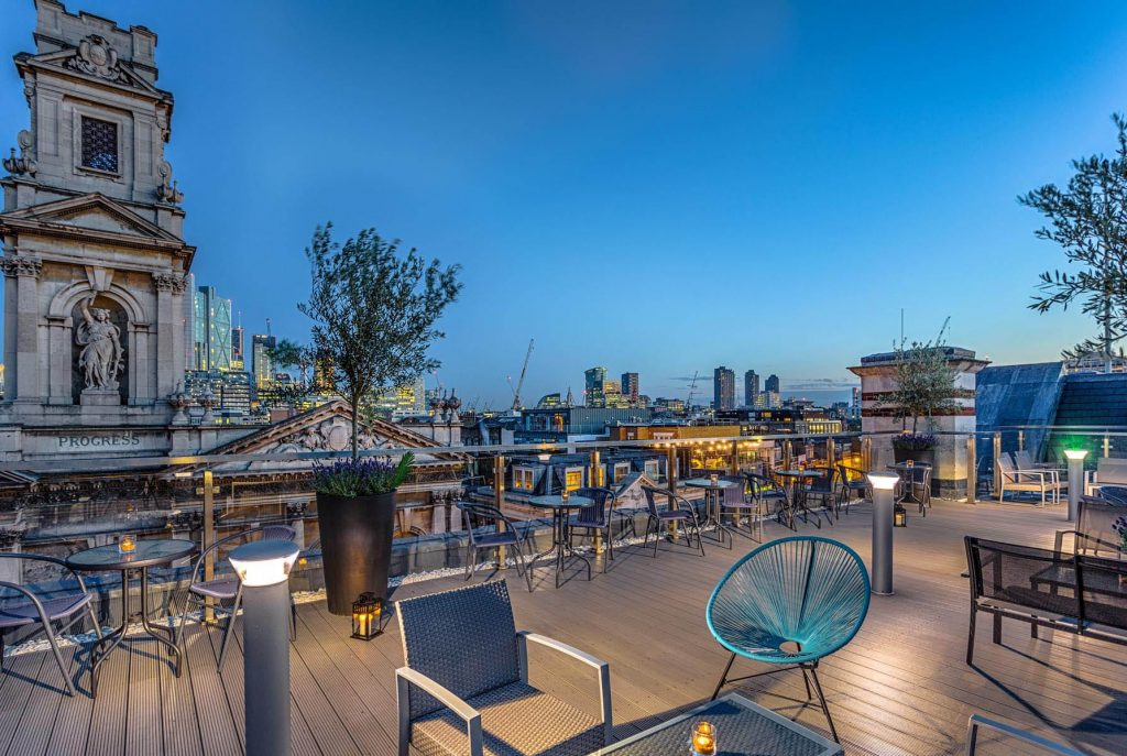 A London rooftop venue to hire is Courthouse Hotel Shoreditch