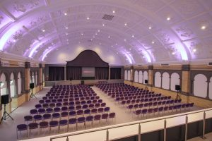 Great Hall at London Metropolitan University for workshop events