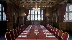 he Great Chamber at New Hall Hotel & Spa for business meetings