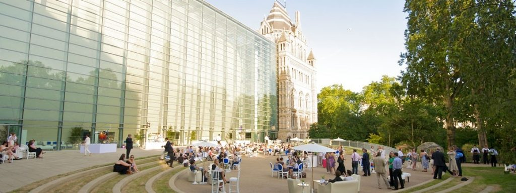 The courtyard at the Natural History Museum if great space to hire for an event