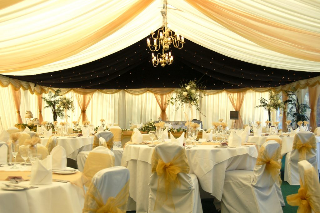 permanent marquee at Brook Marston Farm Hotel