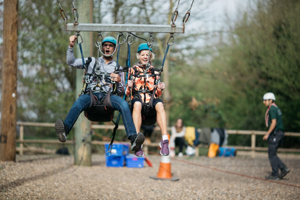 team-building at Gilwell Park