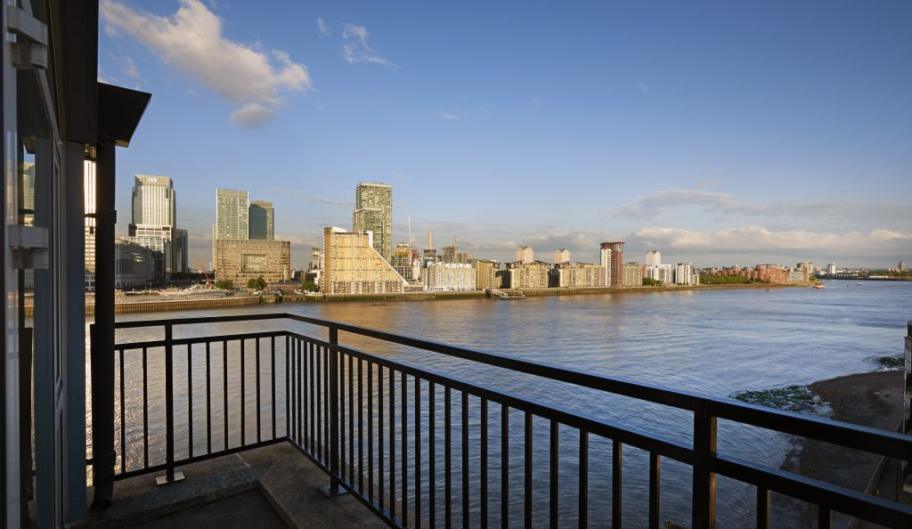 Balcony view from Doubletree by Hilton Docklands Riverside
