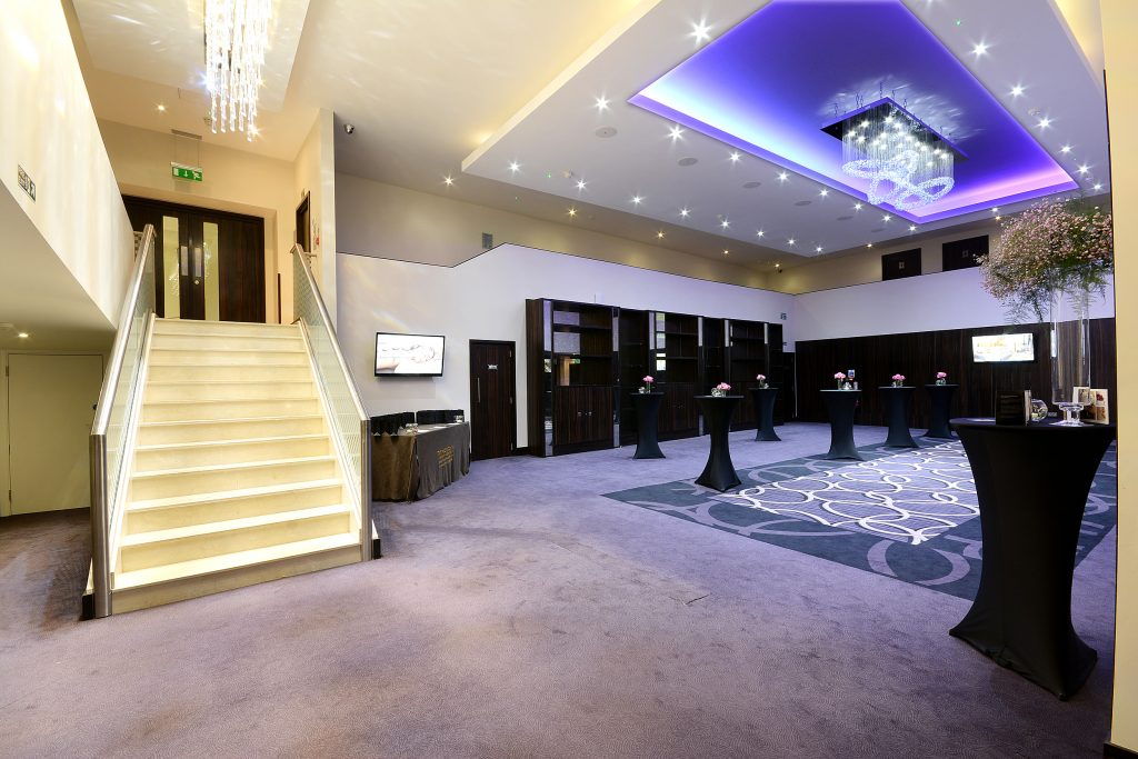 The Montcalm foyer to the Grand Ballroom