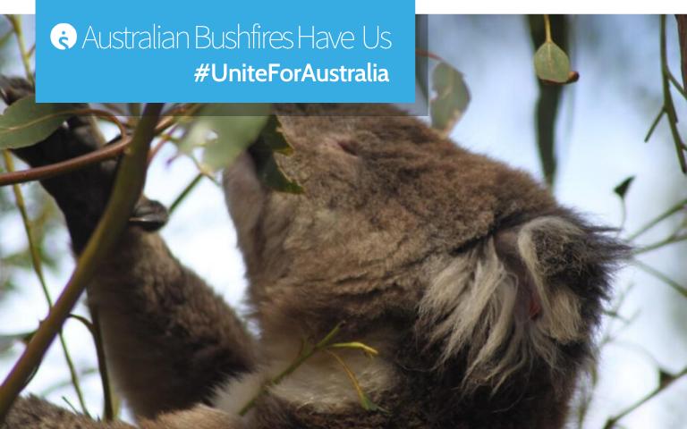 Australian Bushfires have us #UniteForAustralia