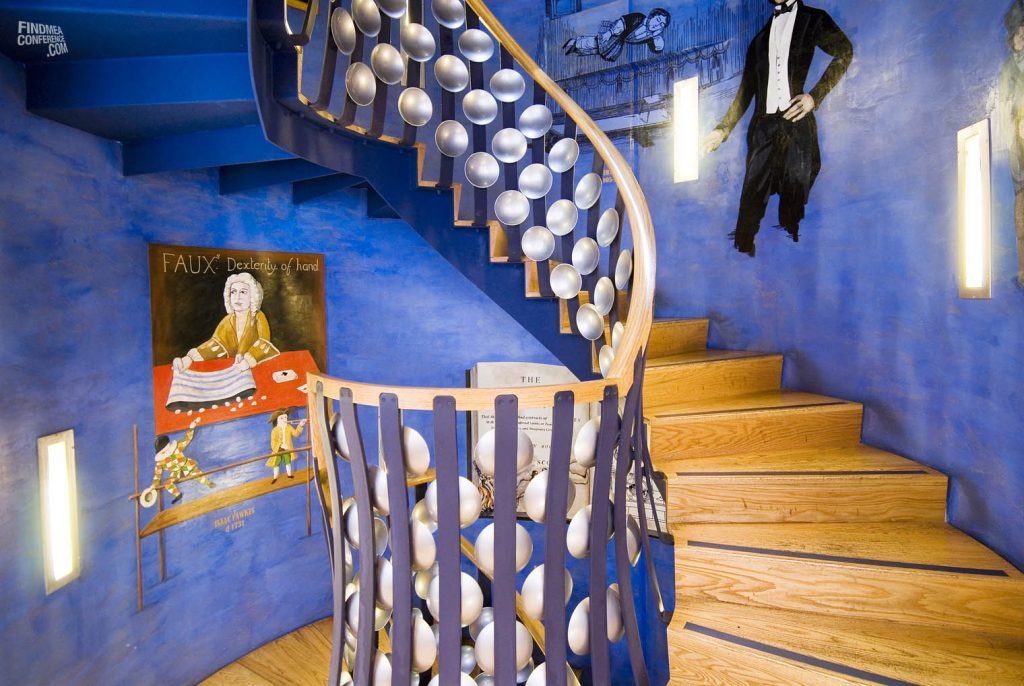 Staircase at the magic circle venue