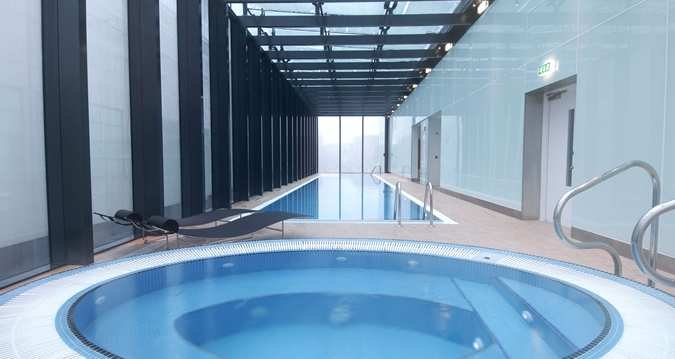 Hilton Manchester Deansgate swimming pool